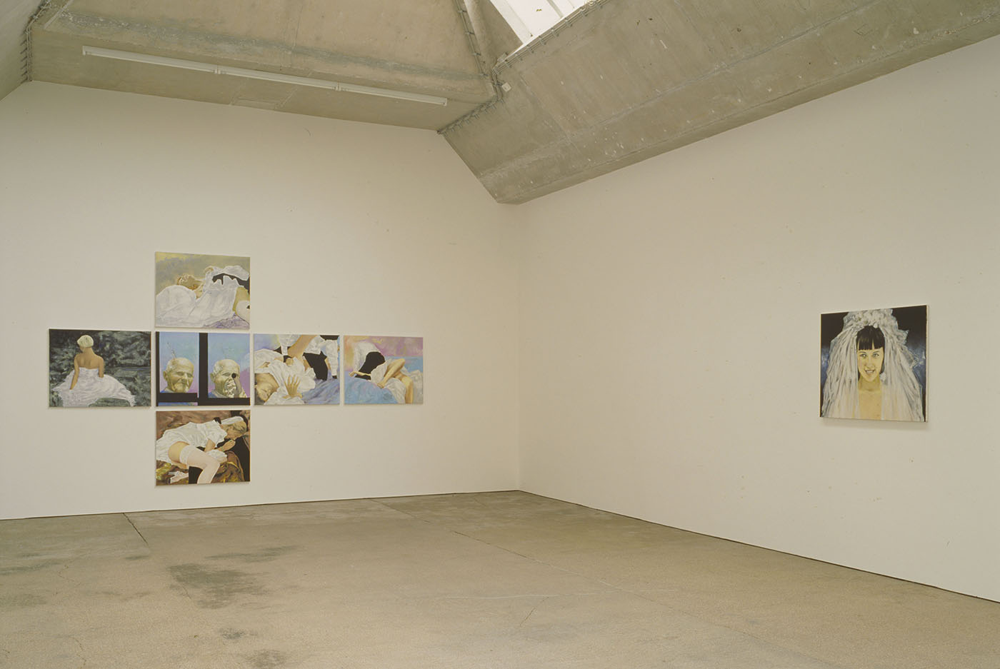 Bruno Perramant - Exhibition view - History of abstraction, I Prologue, II The wedding, 2011